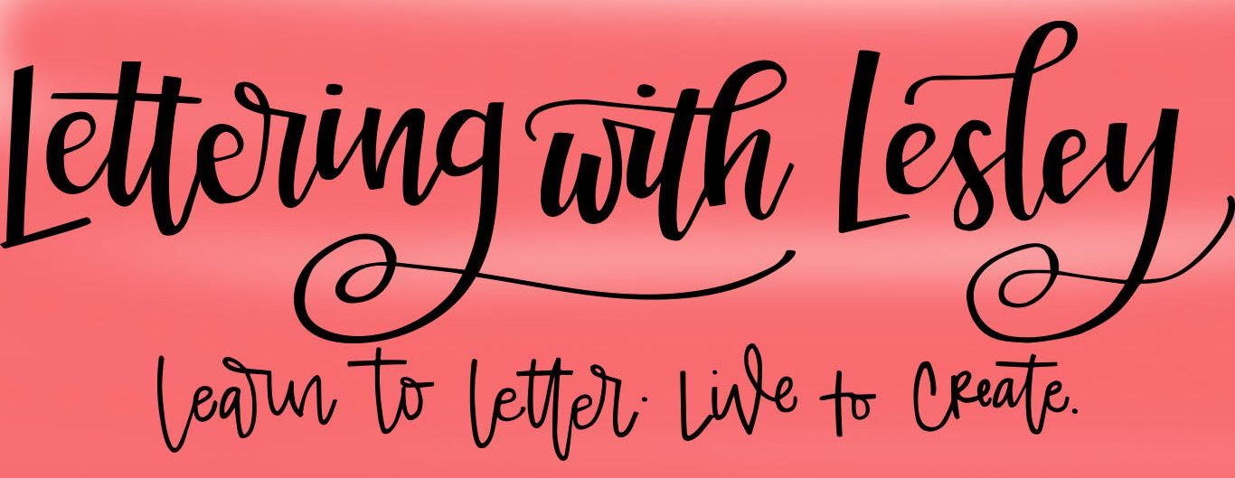 Lettering with Lesley Hand Lettering Classes