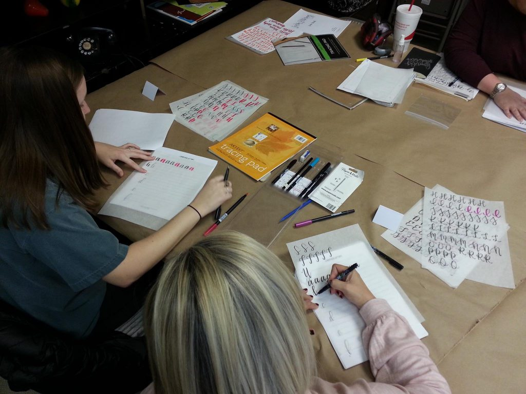 Lettering Class at Art Creations