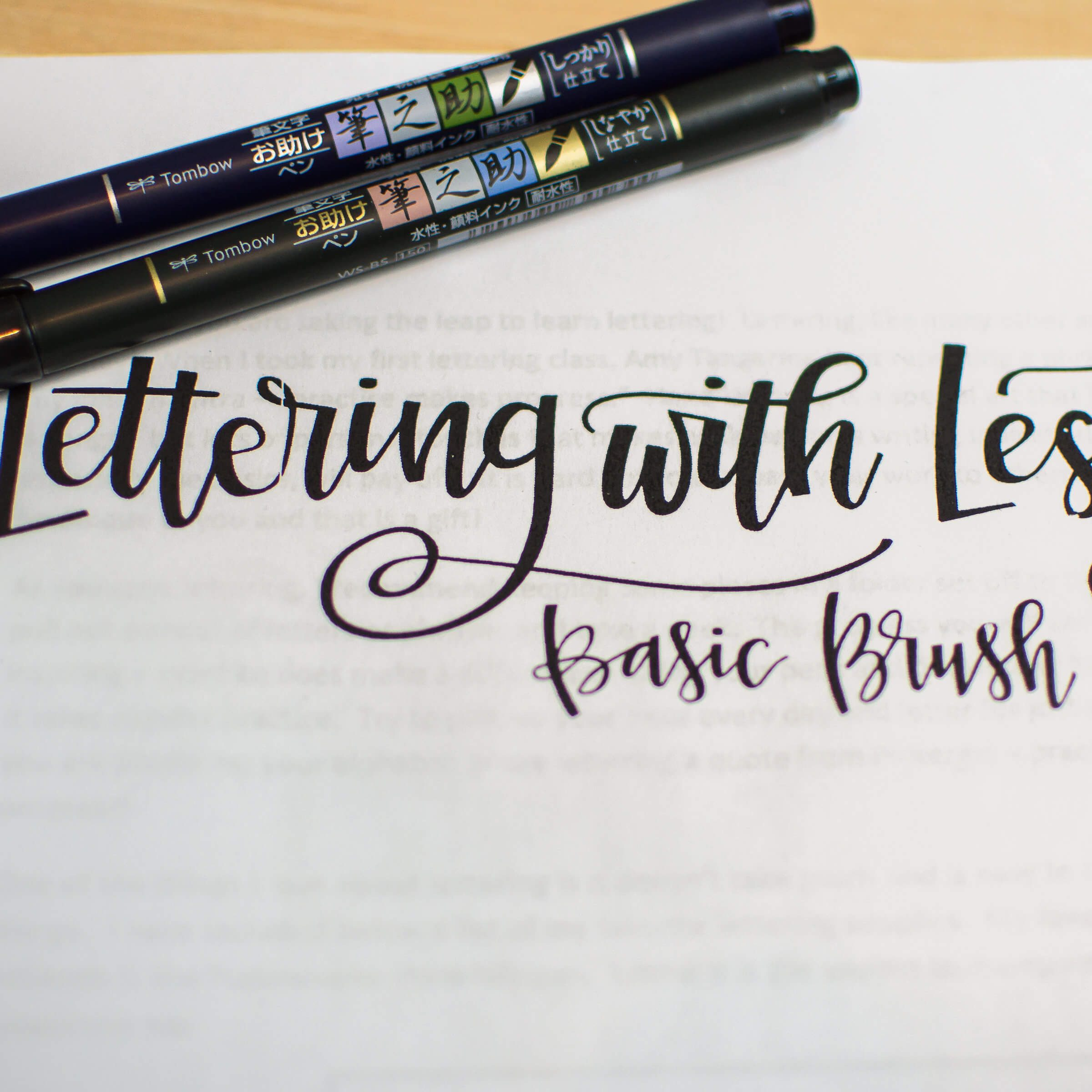 Lettering with Lesley Packet basic brush